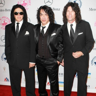 Gene Simmons, Paul Stanley, Tommy Thayer, KISS in 26th Anniversary Carousel of Hope Ball - Presented by Mercedes-Benz - Arrivals