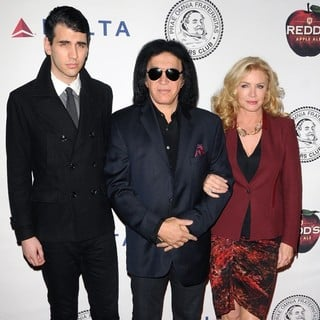 Nick Simmons, Gene Simmons, Shannon Tweed in The Friars Club Roast of Jack Black