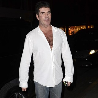 Simon Cowell in Simon Cowell Leave ABC Kitchen Restaurant