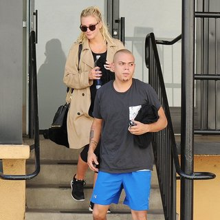 Ashlee Simpson and Evan Ross Leaving The Gym