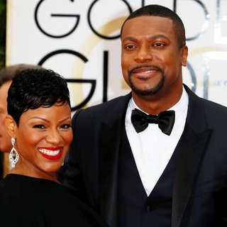Cynne Simpson, Chris Tucker in 73rd Annual Golden Globe Awards - Arrivals