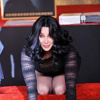 Cher in Cher's Hand & Footprints Ceremony