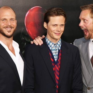 Gustaf Skarsgard, Bill Skarsgard, Alexander Skarsgard in World Premiere of It