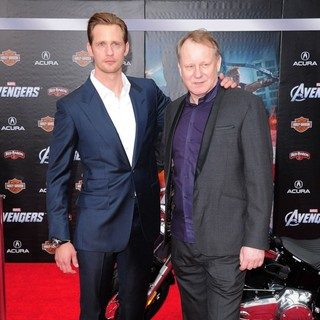Alexander Skarsgard, Stellan Skarsgard in World Premiere of The Avengers - Arrivals