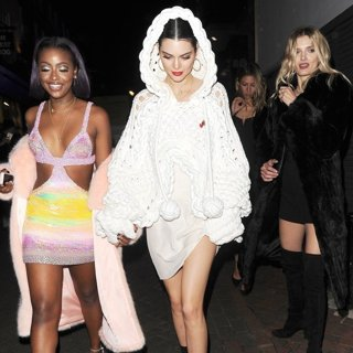 Justine Skye, Kendall Jenner, Lily Donaldson-Kendall Jenner Enjoys A Night Out with Justine Skye and Lily Donaldson