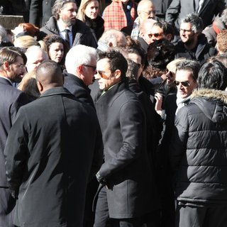 John Slattery, Justin Theroux, Billy Crudup in The Funeral of Philip Seymour Hoffman