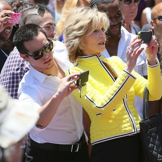 Casper Smart, Jane Fonda in Jennifer Lopez Is Honoured with The 2,500th Star on The Hollywood Walk of Fame