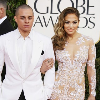 Casper Smart, Jennifer Lopez in 70th Annual Golden Globe Awards - Arrivals