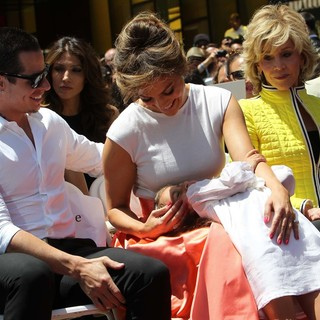 Casper Smart, Jennifer Lopez, Emme Anthony, Jane Fonda in Jennifer Lopez Is Honoured with The 2,500th Star on The Hollywood Walk of Fame