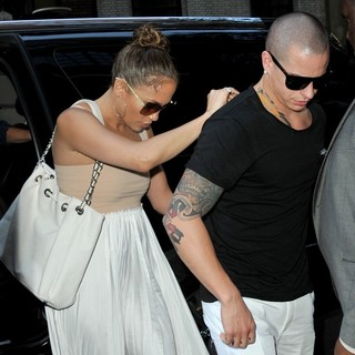 Jennifer Lopez, Casper Smart in Jennifer Lopez and Casper Smart Heads Out to Celebrate Her 43rd Birthday
