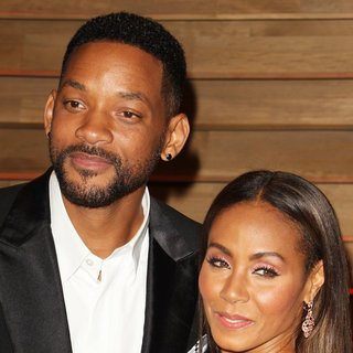 Will Smith, Jada Pinkett Smith in 2014 Vanity Fair Oscar Party