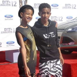 Willow Smith, Jaden Smith in The BET Awards 2012 - Arrivals