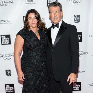 Keely Shaye Smith, Pierce Brosnan in 40th Anniversary Chaplin Award Gala Honoring Barbra Streisand