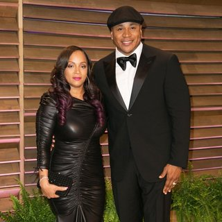 Simone I. Smith, LL Cool J in 2014 Vanity Fair Oscar Party