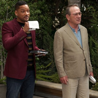 Will Smith, Tommy Lee Jones in Men in Black 3 Photocall