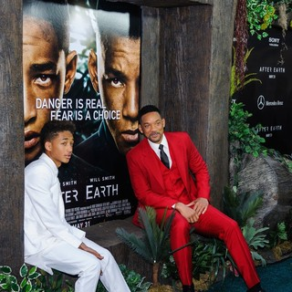 Jaden Smith, Will Smith in New York Premiere of After Earth