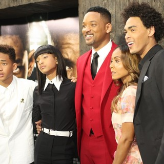 Jaden Smith, Willow Smith, Will Smith, Jada Pinkett Smith, Trey Smith in New York Premiere of After Earth