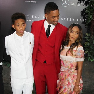Jaden Smith, Will Smith, Jada Pinkett Smith in New York Premiere of After Earth