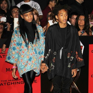 Willow Smith, Jaden Smith in The Hunger Games: Catching Fire Premiere