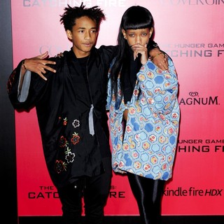 Jaden Smith, Willow Smith in The Hunger Games: Catching Fire Premiere