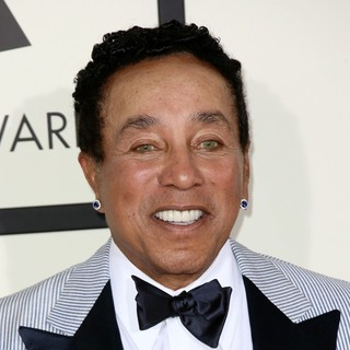 Smokey Robinson in The 56th Annual GRAMMY Awards - Arrivals