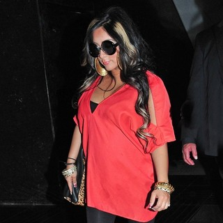 Snooki in Snooki Arrives at NBC Studios to Promote Her Spin-off Show Snooki and JWoww