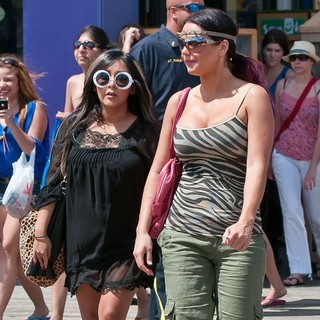 The Cast of Jersey Shore Out and About in Seaside