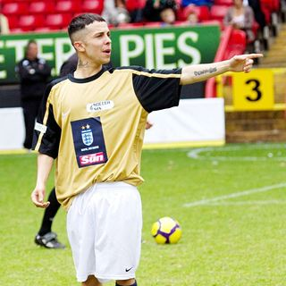 Dappy, N-Dubz in 2010 Soccer Six Tournament at Charlton Athletic Football Club