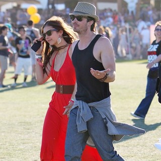 Nina Dobrev, Ian Somerhalder in Celebrities at The 2012 Coachella Valley Music and Arts Festival - Day 3