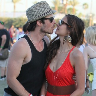 Ian Somerhalder, Nina Dobrev in Celebrities at The 2012 Coachella Valley Music and Arts Festival - Day 3