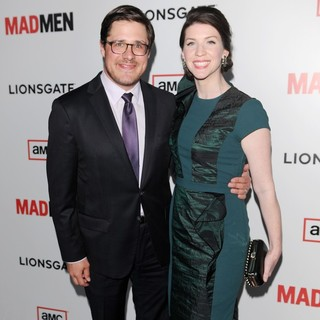 Rich Sommer, Virginia Donohoe in AMC's Mad Men - Season 6 Premiere