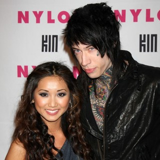 Brenda Song, Trace Cyrus in The Nylon Magazine Young Hollywood Party 2010