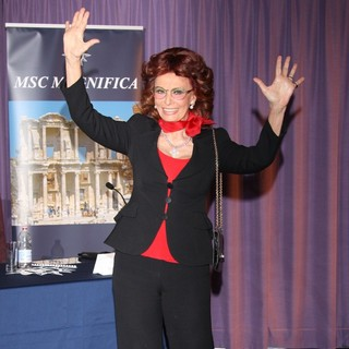 Sophia Loren in VIP Reception to Launch MSC Magnifica