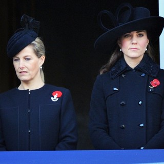Sophie Rhys-Jones, Kate Middleton in Sunday Commemorating Sacrifices of The Armed Forces