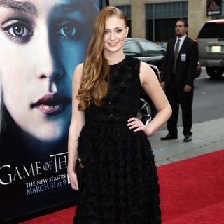Sophie Turner in Premiere of The Third Season of HBO's Series Game of Thrones - Arrivals