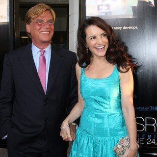 Aaron Sorkin, Kristin Davis in HBO's The Newsroom Los Angeles Premiere