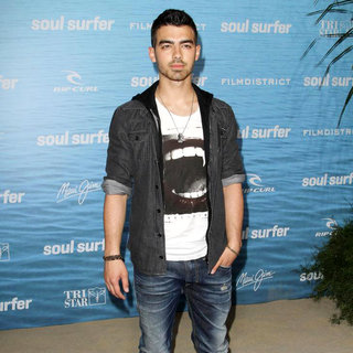 Joe Jonas, Jonas Brothers in The Los Angeles Premiere of 'Soul Surfer'
