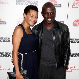 Souleymane Sy Savane in Machine Gun Preacher Los Angeles Premiere