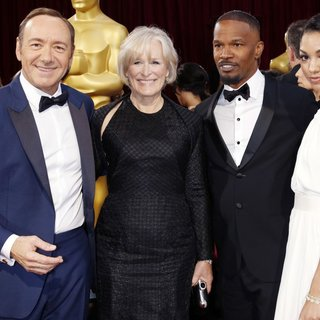 Kevin Spacey, Glenn Close, Jamie Foxx, Corinne Foxx in The 86th Annual Oscars - Red Carpet Arrivals