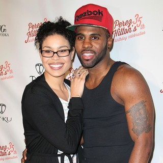 Jordin Sparks, Jason Derulo in Perez Hilton's 35th Birthday Party - Arrivals