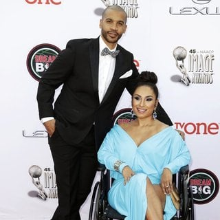 Aaron D. Spears, Estella Lopez in 45th NAACP Image Awards - Arrivals