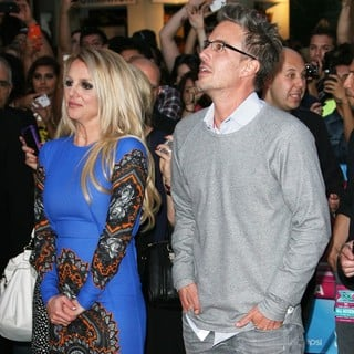 Britney Spears, Jason Trawick in The X Factor Season Two Premiere Screening and Handprint Ceremony