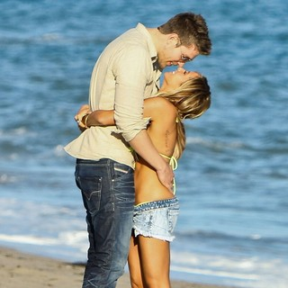 Scott Speer, Ashley Tisdale in Ashley Tisdale Celebrates Her 27th Birthday on The Beach