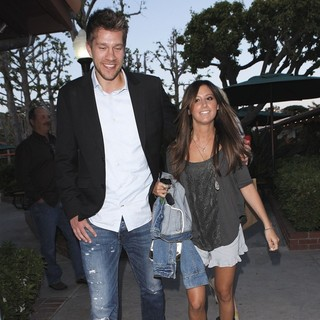 Scott Speer, Ashley Tisdale in Ashley Tisdale Heads to Tra Di Noi Restaurant with Scott Speer