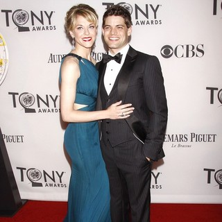 Ashley Spencer, Jeremy Jordan in The 66th Annual Tony Awards - Arrivals