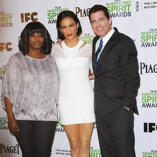 Octavia Spencer, Paula Patton, Josh Welsh in The 2014 Spirit Awards Nominations Press Conference