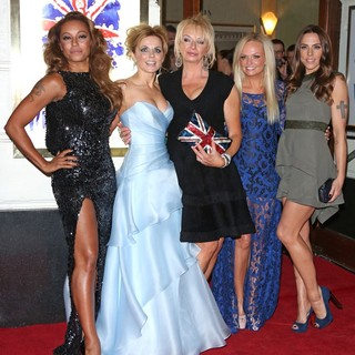 Melanie Brown, Geri Halliwell, Judy Craymer, Emma Bunton, Melanie C, Spice Girls in VIVA Forever Spice Girls The Musical - Arrivals