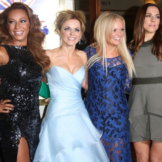 Melanie Brown, Geri Halliwell, Emma Bunton, Melanie C, Spice Girls in VIVA Forever Spice Girls The Musical - Arrivals