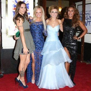 Melanie C, Emma Bunton, Geri Halliwell, Melanie Brown, Spice Girls in VIVA Forever Spice Girls The Musical - Arrivals