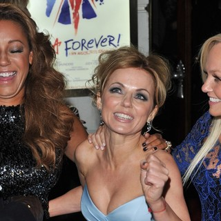 Melanie Brown, Geri Halliwell, Emma Bunton, Spice Girls in VIVA Forever Spice Girls The Musical - Arrivals